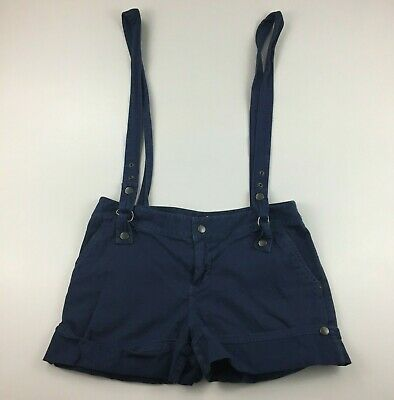 $20.30 • Buy SILENCE + NOISE Urban Outfitters Womens Sz 2 Blue Twill/Denim Suspender Shorts