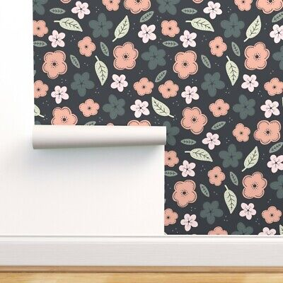 $29 • Buy Peel-and-Stick Removable Wallpaper Floral Children' Nursery Room Baby Girl