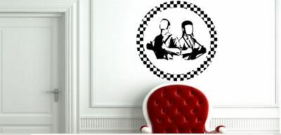 £15 • Buy Rude Boy And Girl With Braces Circle Skinhead Ska Music Vinyl Wall Decal Sticker