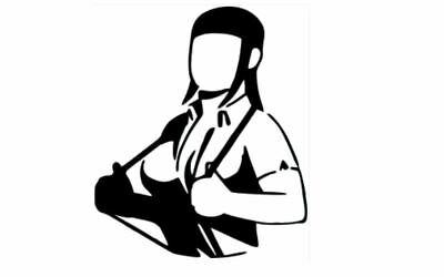 Rude Girl With Braces Ska Music Skinhead Lounge Funny Vinyl Decal Sticker • 11.95£