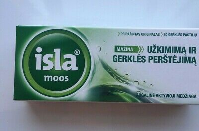 ISLA Moos Throat Dry Cough And Hoarseness Lozenges N30 • 12.99£