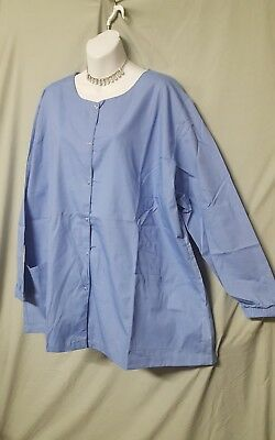 $19.99 • Buy Womens 3x Blue Scrub Long Sleeve Jacket  New Without Tags 62  Bust Irregular