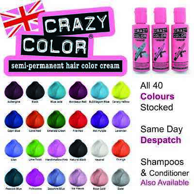 £5.69 • Buy Crazy Color Semi-Perm Conditioning Hair Dye Colour Temporary Wash In Colour