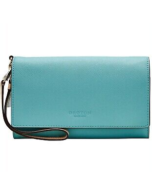 AU120 • Buy  OROTON Estate Clutch Wallet & Pouch Light Teal NEW Beautiful Gift $RRP: $245