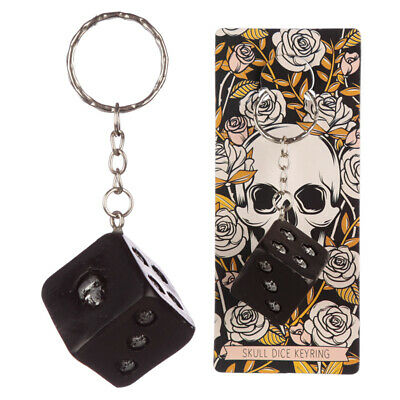 Collectable Skulls And Roses Dice Keyring • 3.99£