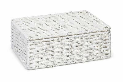 ARPAN Paper Rope Storage Basket Box With Lid - White (Small) • 11.99£