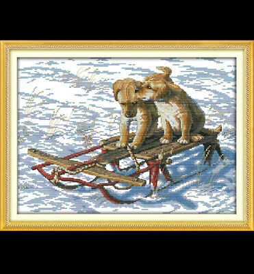 Dogs On A Sledge  Cross Stitch Kit 14ct • 9£