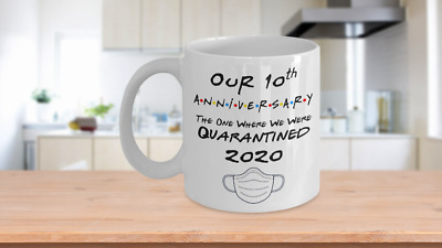 10th Anniversary Quarantined 2020 Gift For Him Her Couple Wedding Funny Gift • 15.19£
