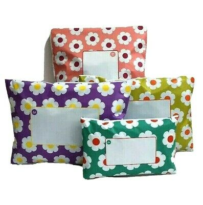 £3.85 • Buy Daisy Mixed Printed Floral Coloured Mailing Bags Mixture Of 4 Colours & 3 Sizes