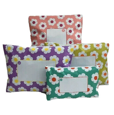 £4.95 • Buy Daisy Floral Printed Flowery Self Seal Coloured Mailing Bag  3 Sizes - 4 Colours