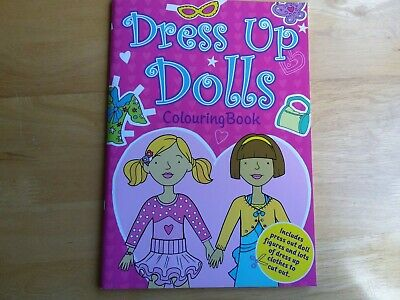 Dress Up Dolls Colouring Book • 2£