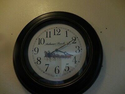 $ CDN91.45 • Buy Anheuser Busch Clydesdale Horses Wall Clock Quartz  Clock Works Perfectly, 20 D