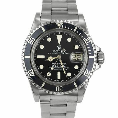 $ CDN14925.34 • Buy Vintage 1979 Rolex Submariner Date CREAM PATINA 6.1x 1680 Matte Black Dive Watch