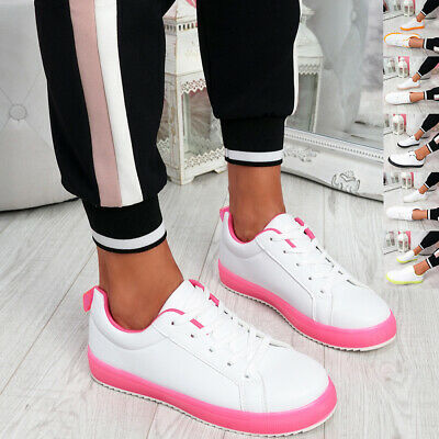 $ CDN17.63 • Buy Womens Ladies Lace Up Platform Trainers Women Party Sneakers Casual Shoes Size