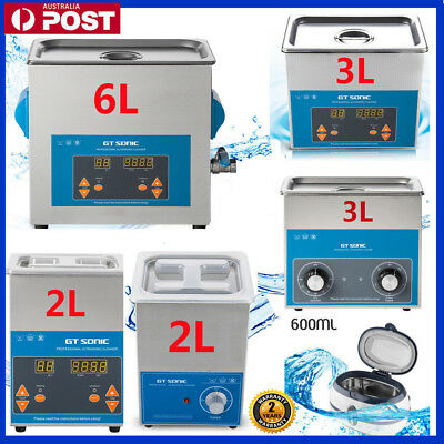 AU149.99 • Buy 2L-6L Digital Ultrasonic Cleaner Ultra Sonic Timer Stainless Steel Cleaning Tank