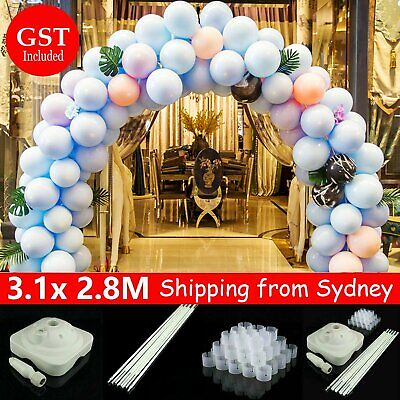AU49.99 • Buy Balloon Arch Stand Pole Kit Clips Connecter Adjustable Wedding Party 3.1mx 2.8m