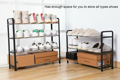 AU22.99 • Buy 3 4 5 Tiers Shoe Rack Storage Organizer Tower Wooden Shelf Stand Shelves