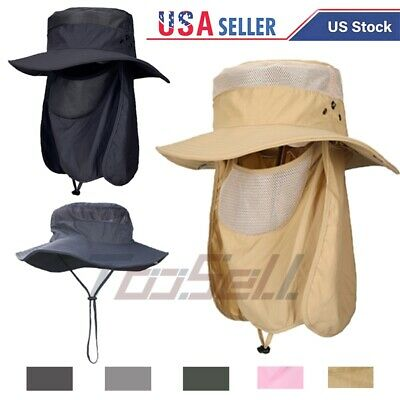 $15.75 • Buy 360°Outdoor UV Protection Ear Flap Neck Cover Sun Hat Cap Fishing Hunting Hiking
