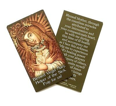 £1.50 • Buy OUR LADY HELP OF THE SICK Prayer Card - Wallet / Purse / Bookmark Size