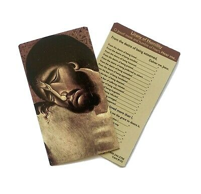 LITANY OF HUMILITY - Wallet / Purse / Bookmark Size Prayer Card • 1.50£