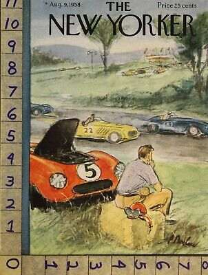 $21.95 • Buy 1958 New Yorker Vintage Cover Barlow Race Car Auto Nascar Drive Nyi38