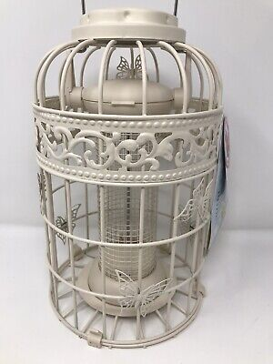 Large WILD BIRD French Style Cream Butterfly Peanut Feeder - Squirrel Proof - • 14.99£