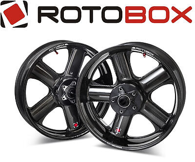 Pair Glossy Carbon Wheels Rotobox Rbx2 17˝x 3.5˝/6˝ Yamaha R1 / R1m 2015> • 2,857.14£