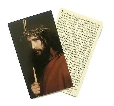 £1.50 • Buy ABANDONMENT TO CHRIST Prayer Card - Wallet / Purse / Bookmark Size