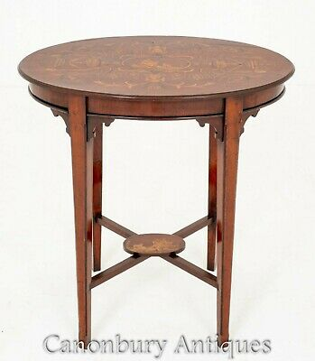 Antique Occassional Table Marquetry Inlay 1890 • 1,200£
