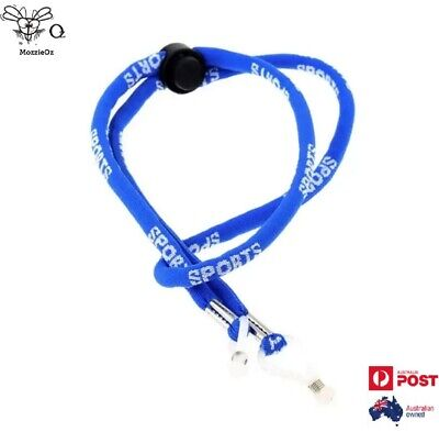 AU5.50 • Buy Sports Adjustable Sunglasses Glasses Neck Cord Strap Blue