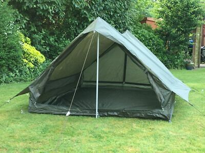 French Army 2 Man Military Tent Survival Camping Bushcraft Waterproof Green Camo • 41.99£
