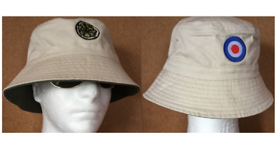 Stone Roses Reni With Both Lemon And Mod Target Bucket Spike Island Sun Hat • 12.49£