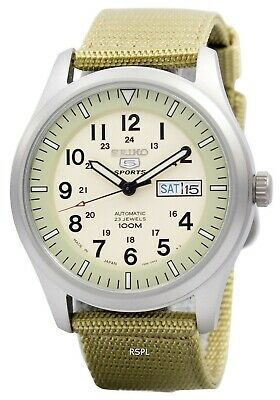 $ CDN186.60 • Buy Seiko 5 Military Automatic Sports Japan Made SNZG07 SNZG07J1 SNZG07J Men's Watch