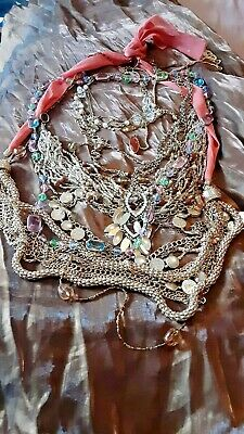 $ CDN36.90 • Buy Lot Of Vtg To Now Assorted Goldtone And Beaded Necklaces