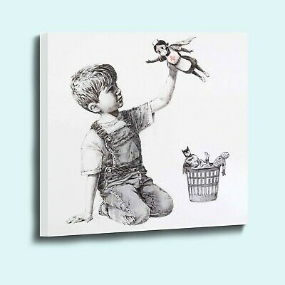Banksy Game Changer NHS Nurse Superhero Canvas Wall Art Picture Print • 12.99£