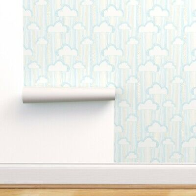 $29 • Buy Peel-and-Stick Removable Wallpaper Clouds Rain Drops Babies Room Stairs Kids