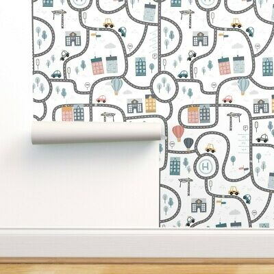 $23 • Buy Removable Water-Activated Wallpaper Gender Neutral Boys Room Nursery Children
