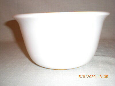 $6.50 • Buy Vintage  Ge  Milk Glass Stand Mixer Bowl - Textured Surface -  7 3/8  By 4  Tall