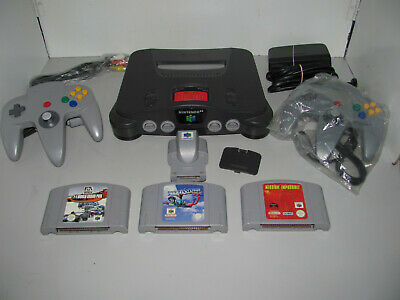 AU299.95 • Buy Nintendo 64 Console With 3 Games & Rumble Pak & Expansion Pak Tested & Working