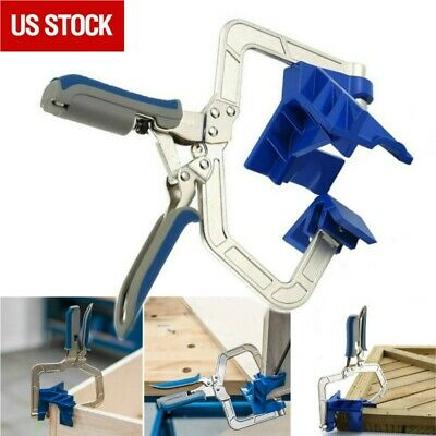 $21.99 • Buy 90 Degree Right Angle Corner Clamp Woodworking Wood For Kreg Jig Clamps Tool
