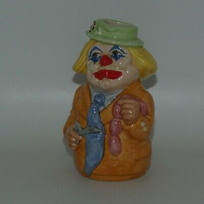 Royal Doulton Doultonville Toby Jug CHARLIE CHEER The CLOWN D6768 • 68.07£