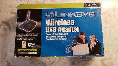 $19.99 • Buy PRE-OWNED Linksys Wireless USB Adapter 2.4GHZ 802.11B Model No. WUSB11 Ver 2.6