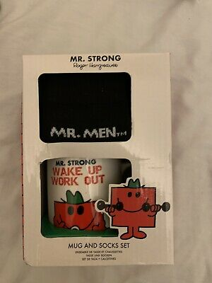 £8.99 • Buy Mr Men Mr Strong Mug And Socks Set Fathers Day Gift Present Mr Men Cup Strong