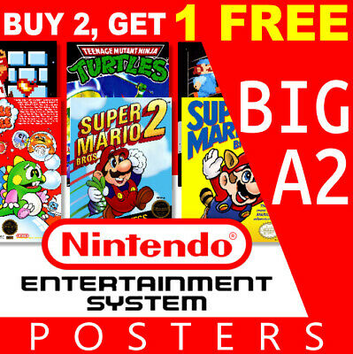 Nintendo NES Game Posters Collection, Big A2 260gsm Posters Prints Art Wall • 11.99£