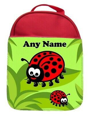 Personalised Ladybirds Print Kids School Insulated Lunchbag Lunch Pack Lunch • 9.93£
