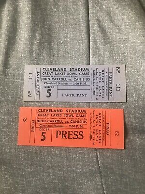 $29.99 • Buy 1948 Great Lakes College Bowl Game Full Ticket Lot Of 2 Canisius John Carroll