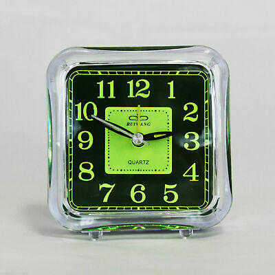 AU14.90 • Buy Clear Minimalist Analog Alarm Clock Analogue Battery Desktop Table Bedside Fluro