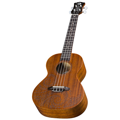 AU279 • Buy Luna UKETTNMAH Ukulele Tattoo Tenor W/Gig Bag