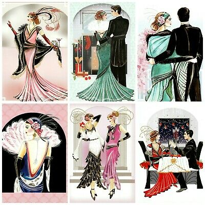 £2.90 • Buy IN YOUR ARMS ART DECO Card Making Toppers, Card Toppers (12)