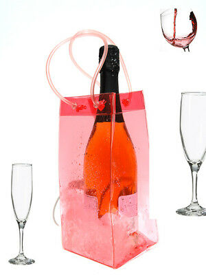 Ice Bag Wine Cooler Champagne Bucket Party Wine BagPINK • 2.99£